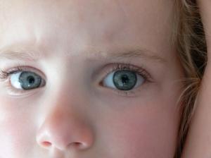 grumpy eyes