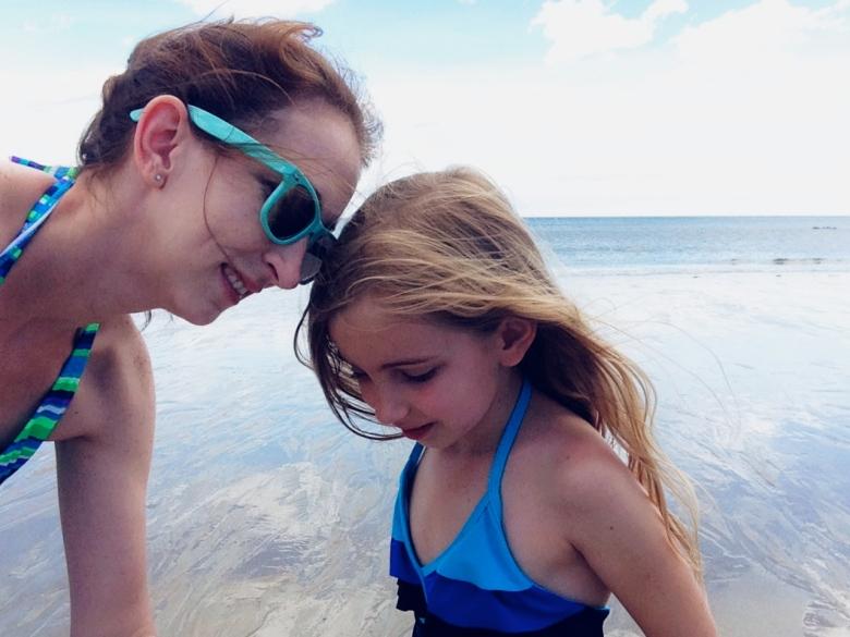 at a maine beach